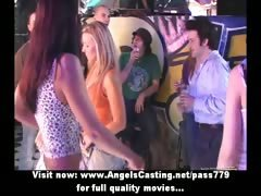 Sex orgy in club with...